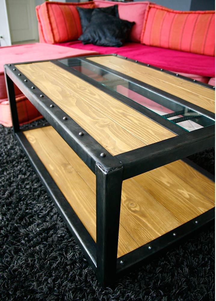Bois Métal Table Atelier 46 Basse VLpqUGSMz